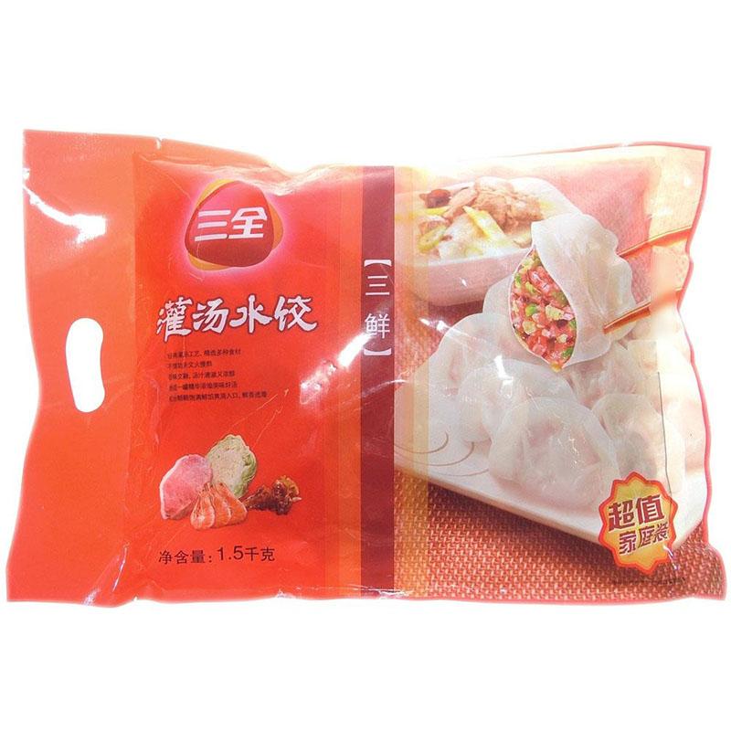 三全,三全三鲜水饺 1500g 袋 郴州生源闪购
