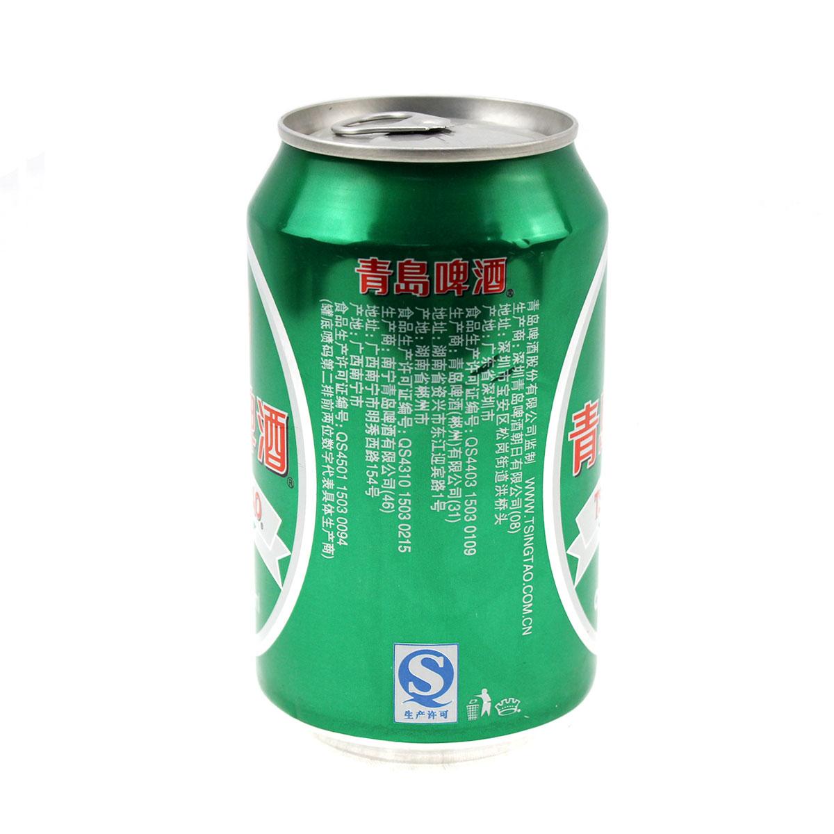 青岛,青岛啤酒 330ml/罐【图片